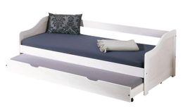 Kinderbett Sofabett LEONIE 90 x 200 Kiefer Massivholz weiß