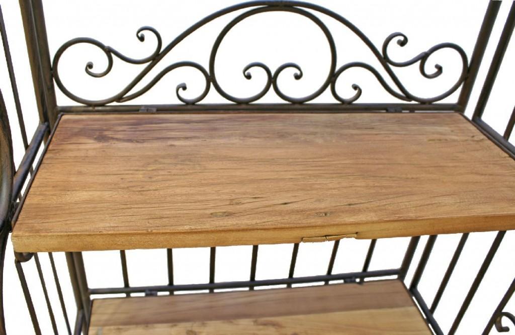 regal eisenregal metallregal temu antik mit b den aus altholz. Black Bedroom Furniture Sets. Home Design Ideas