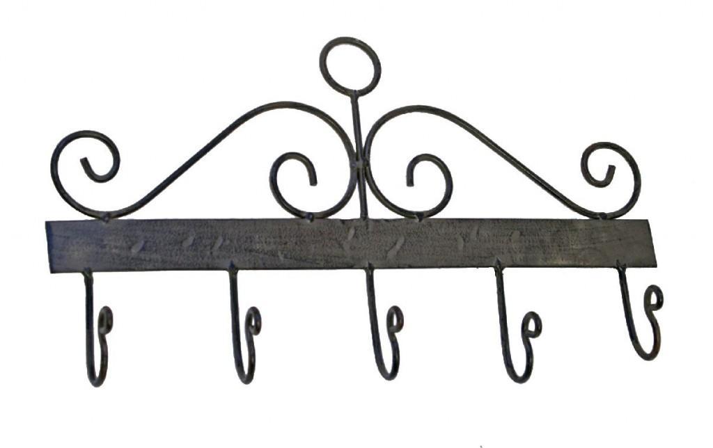 Eisen Hakenleiste Wandgarderobe CAROCA antik braun