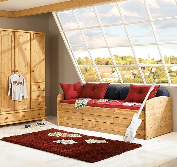 bett kinderbett captain kiefer massivholz funktionsbett mit schubladen ebay. Black Bedroom Furniture Sets. Home Design Ideas