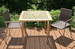 Garten Tisch Fortune 90x90 cm Edelstahl Komplettset