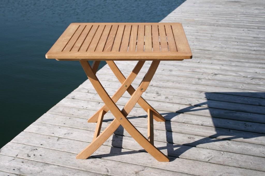 Gartentisch 100 X 80.Klapptisch Gartentisch Catar 80 X 80 Cm Aus Eukalyptus Holz