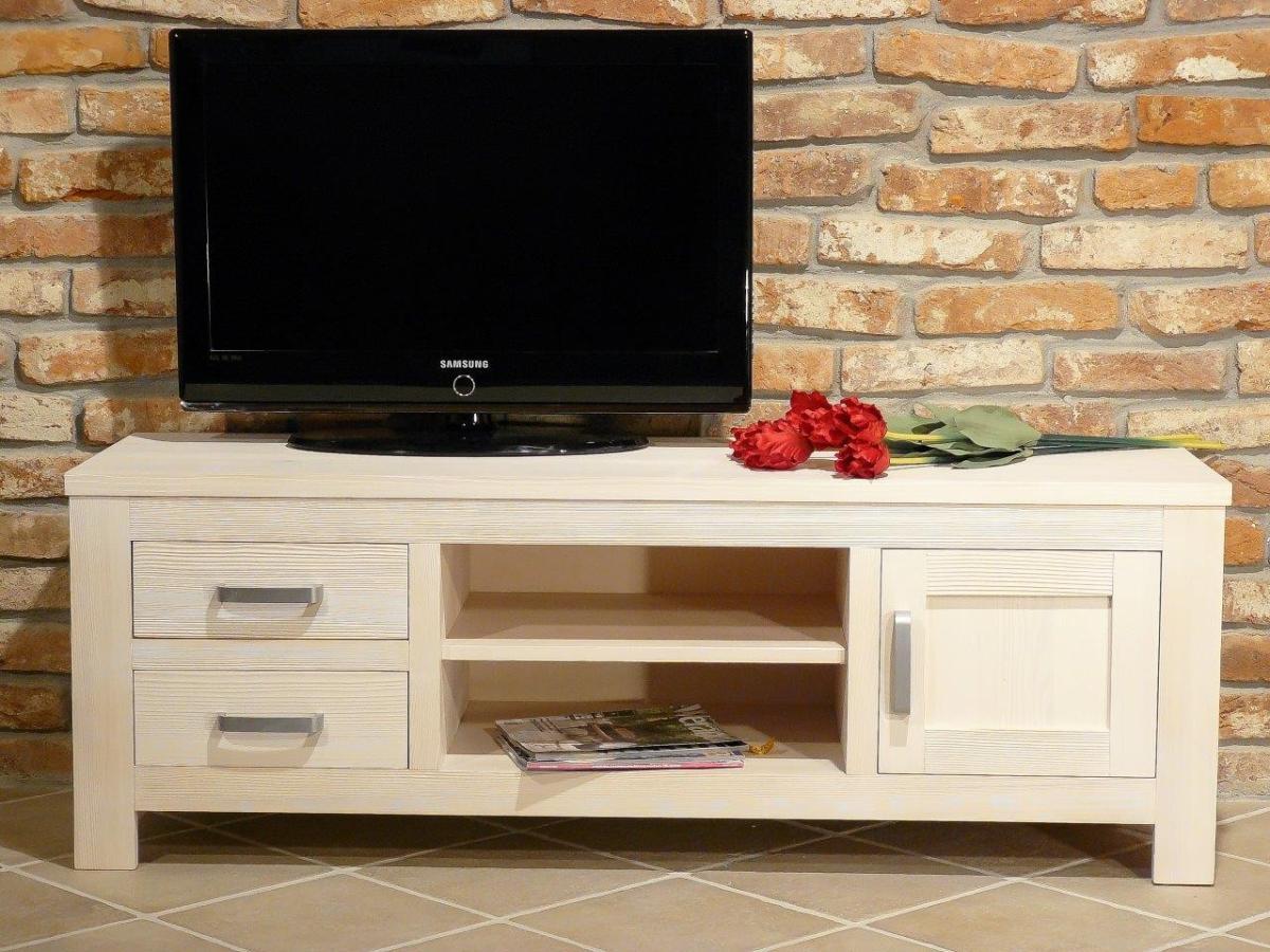 TV Board Bavaria 9059 Fichte weiß gebürstet