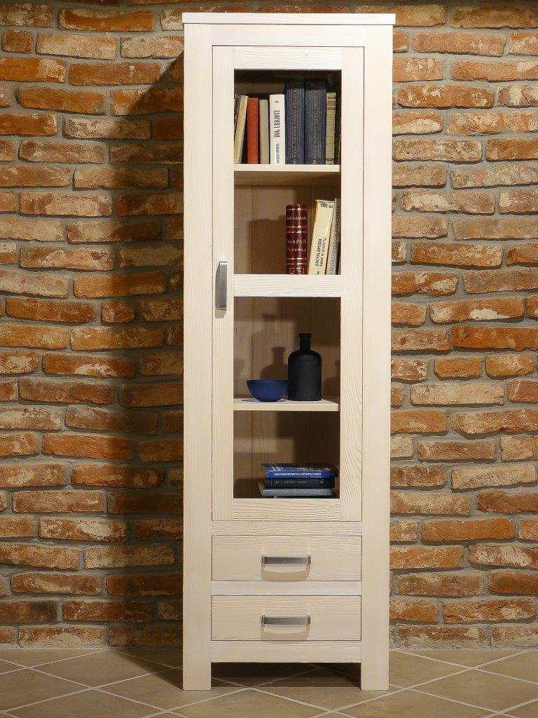 vitrine bavaria 1 t rig fichte wei geb rstet. Black Bedroom Furniture Sets. Home Design Ideas