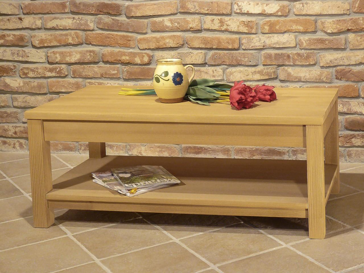 couchtisch bavaria 120 x 70 fichte massivholz geb rstet. Black Bedroom Furniture Sets. Home Design Ideas