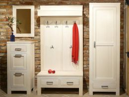 Garderoben Kombination Bavaria III Fichte massiv weiß