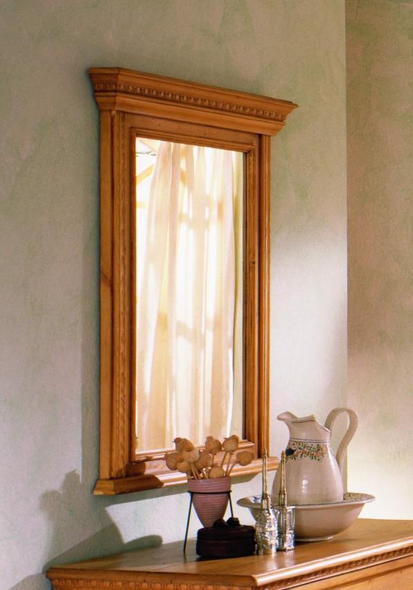 Spiegel Victoria 100 x 80 Fichte massiv gewachst oder lackiert