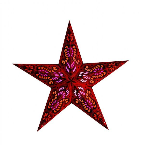 Starlightz Mercury Red Papierstern rot, Earth friendly Collection