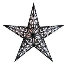 Starlightz RANI Black & White Papierstern ausklappbar, Earth friendly
