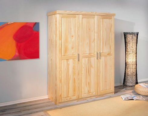 kleiderschrank pelle 3 t ren kiefer natur lackiert. Black Bedroom Furniture Sets. Home Design Ideas