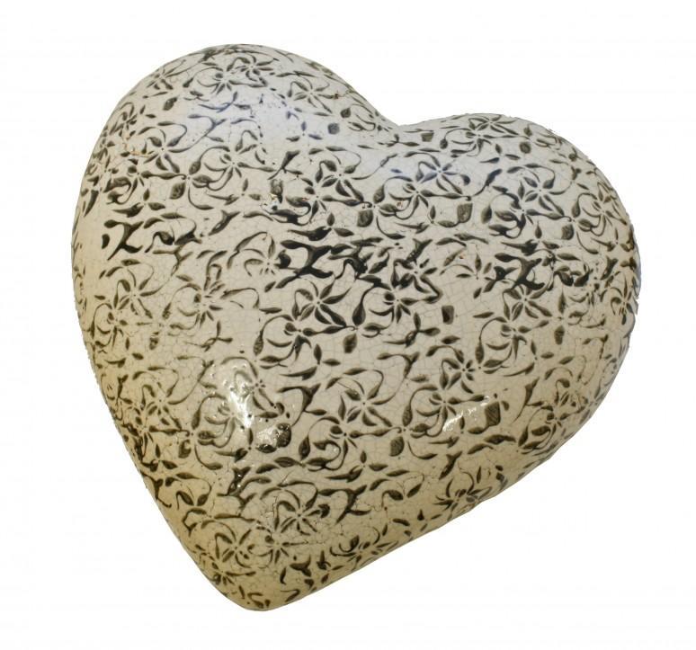 Deko-Herz Keramikherz weiß