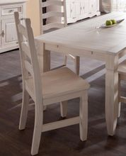 Stuhl 3513 Mexican Kiefer Massivholz weiß lasiert und lackiert