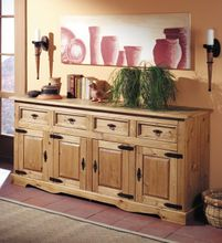 Sideboard 1502 Mexican 4-türig Kiefer antik