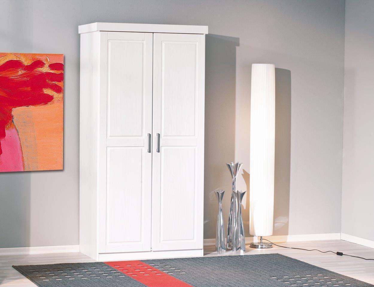 kleiderschrank hakon kiefer wei lackiert 2 t rig. Black Bedroom Furniture Sets. Home Design Ideas
