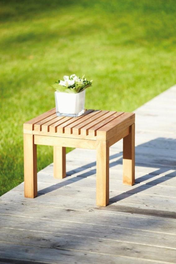 Gartenhocker Hocker Beistelltisch Tisch Teak NICE von Jan Kurtz Möbel