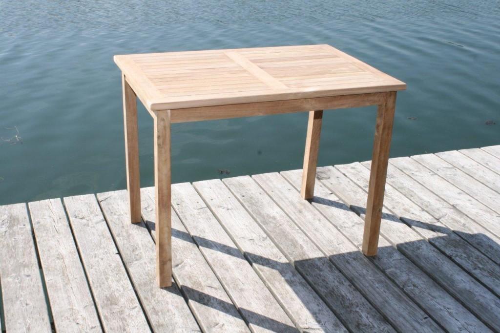 Tisch Gartentisch rechteckig 90 x 70 cm in premium Teakholz