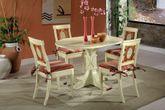 Tischgruppe Essgruppe Verona Säulentisch Fichte Massivholz lackiert 001