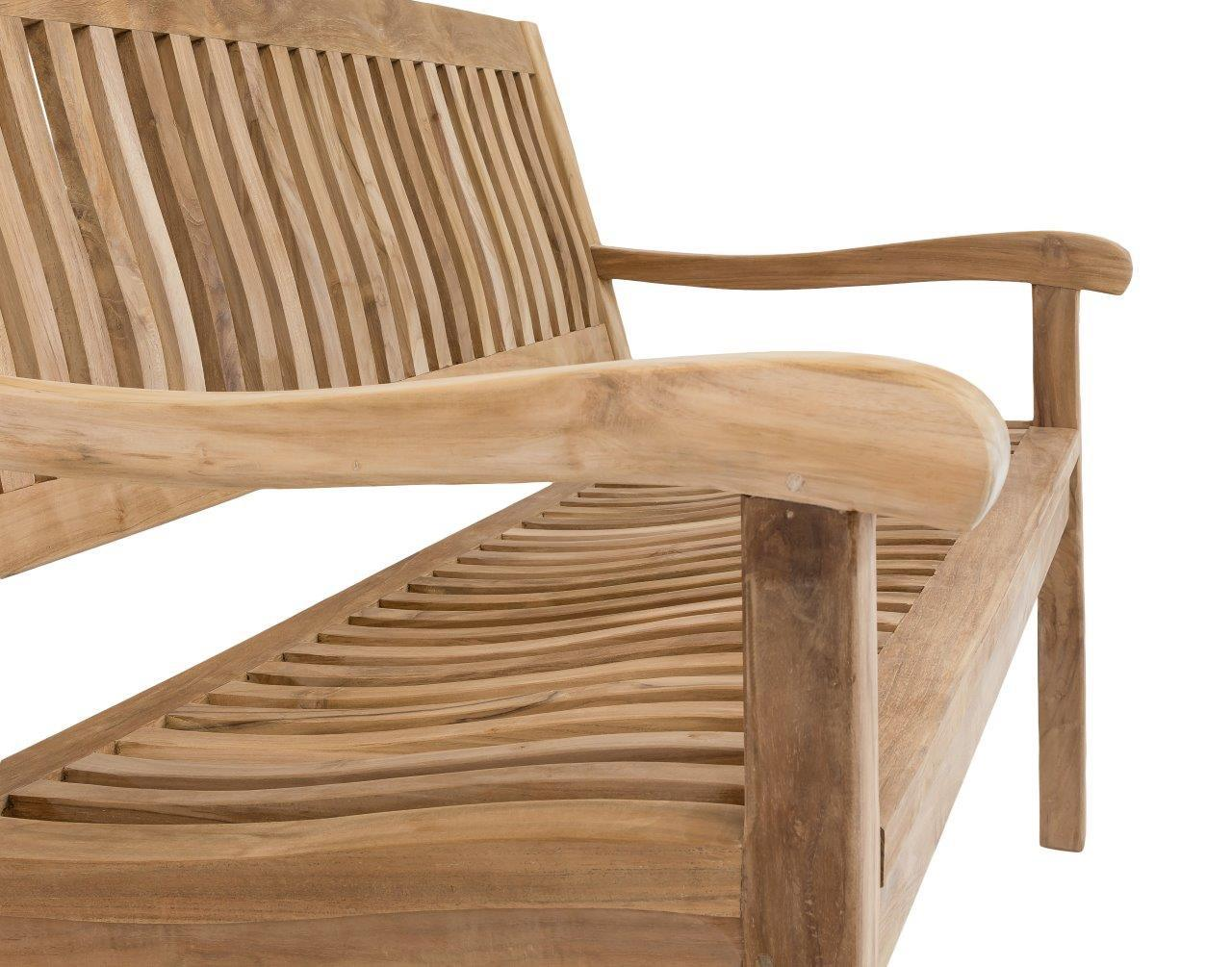 stabile 2 sitzer gartenbank kingsbury in premium teak 120 cm. Black Bedroom Furniture Sets. Home Design Ideas