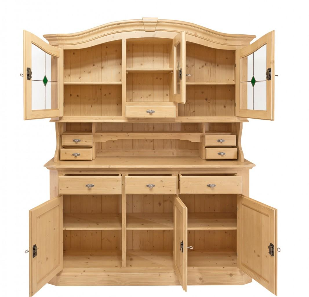 buffet k chenbuffet kiens gross geschirrschrank fichte massiv lackiert. Black Bedroom Furniture Sets. Home Design Ideas