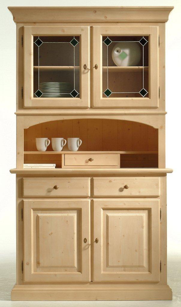 Küchenbuffet Brunico Geschirrschrank 2 Türen Fichte massiv lackiert