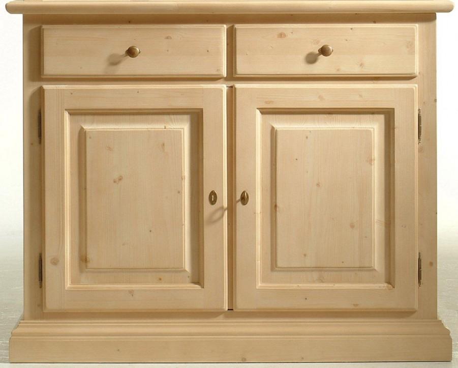 Anrichte Brunico Sideboard 2 Türen Fichte Massivholz lackiert