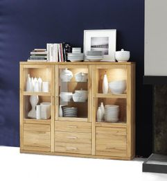 Highboard Bianca 034S Kernbuche oder Wildeiche