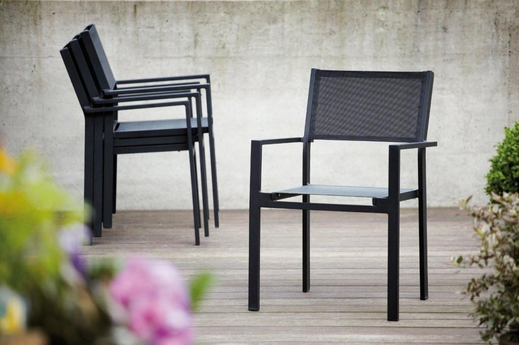 Gartenstühle alu schwarz  Gartenstuhl Alu. Top Kettler Verstellbar U Einfach Praktischer U ...