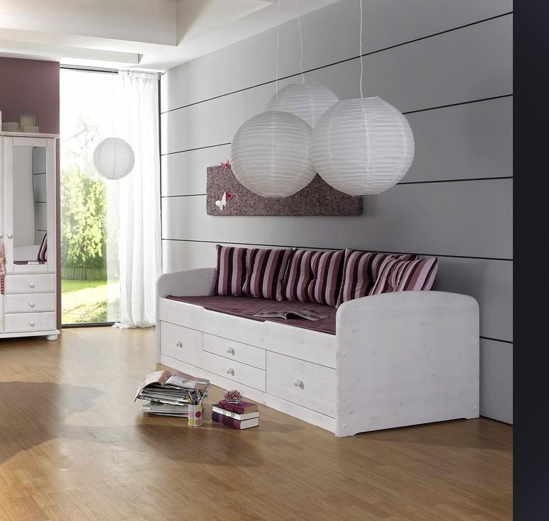 bett kinderbett captain 90x200 kiefer massivholz wei von dolphin ebay. Black Bedroom Furniture Sets. Home Design Ideas
