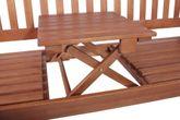 Gartenbank hochklappbarem Tisch aus 100% FSC Eukalyptus geölt Vorschau