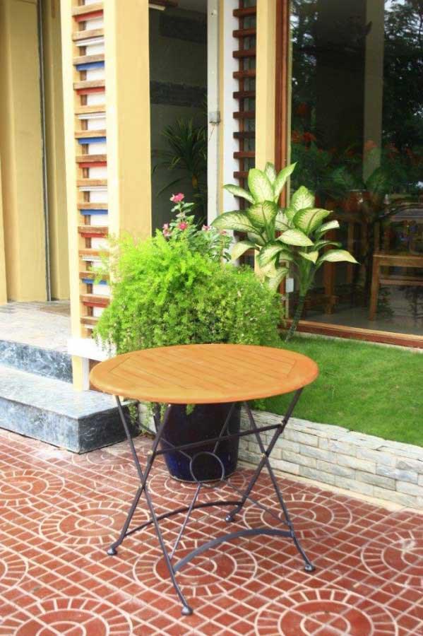 gartentisch klapptisch wien rund d 80 cm eukalyptus. Black Bedroom Furniture Sets. Home Design Ideas