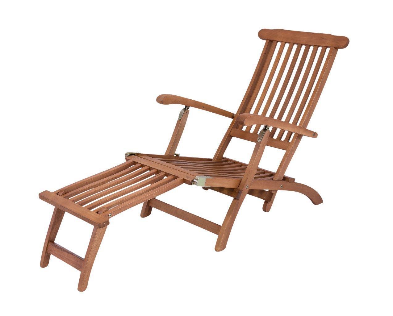 Deckchair Liegestuhl aus 100% Eukalyptus Holz