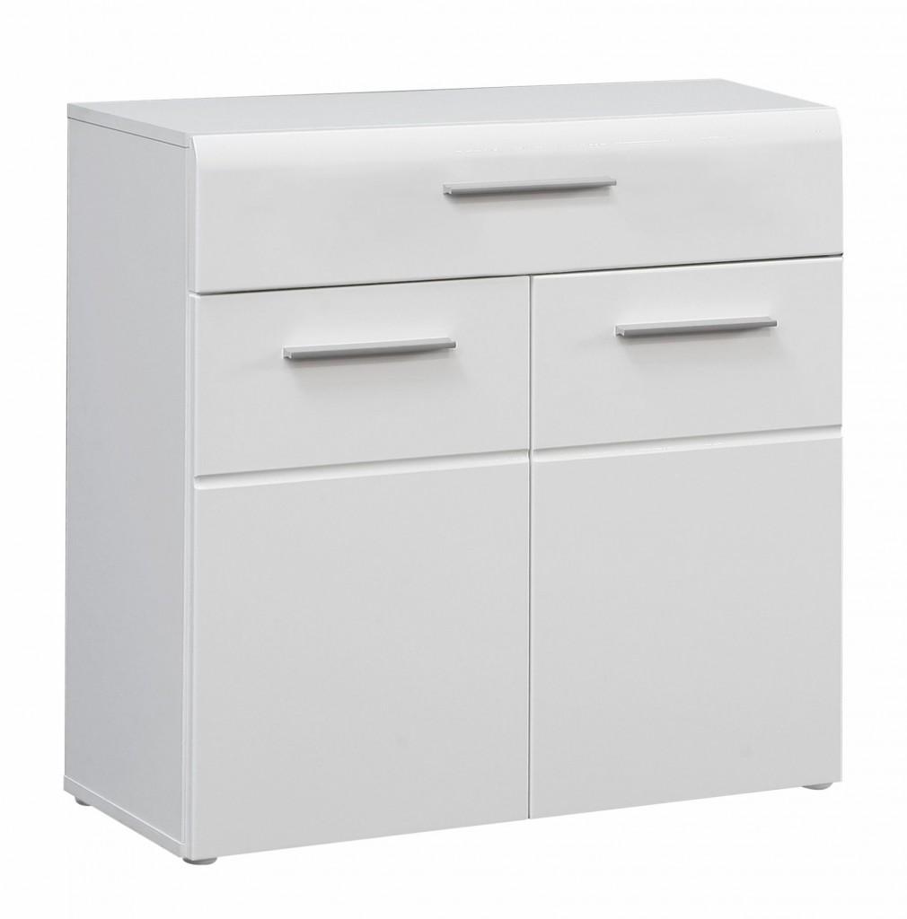 Kommode SLATE 2 Türen 1 Schublade, Front weiß Hochglanz