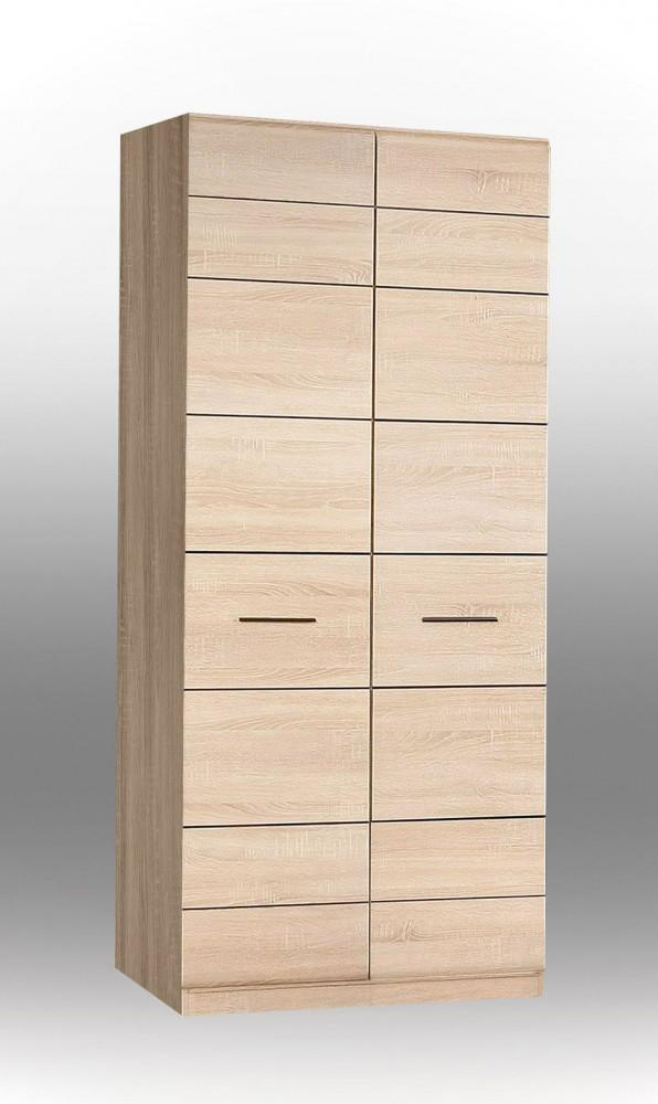 kleiderschrank combino schrank mit 2 t ren sonoma eiche von forte ebay. Black Bedroom Furniture Sets. Home Design Ideas