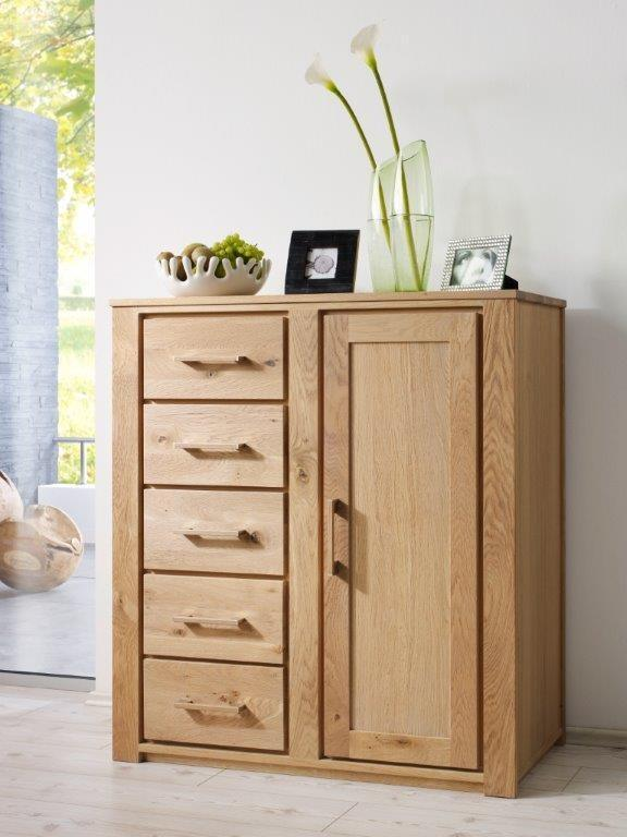 Henke Schrank Kommode Sideboard Virginia 912 Wildeiche massiv geölt