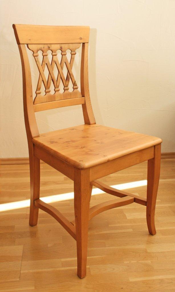 Holzstuhl kramsach esszimmerstuhl fichte massivholz lackiert for Stuhle esszimmer massivholz