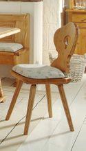 Stuhl Bozen Esszimmerstuhl im Landhausstil, Fichte Massivholz lackiert
