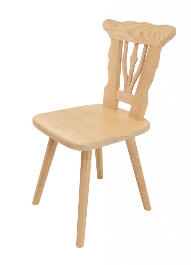 Stuhl Südtirol Esszimmerstuhl im Landhausstil, Fichte Massiv lackiert