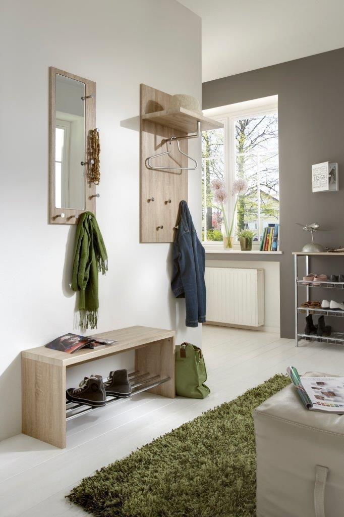 garderoben wandgarderoben set paolo 3 teilig eiche hell. Black Bedroom Furniture Sets. Home Design Ideas