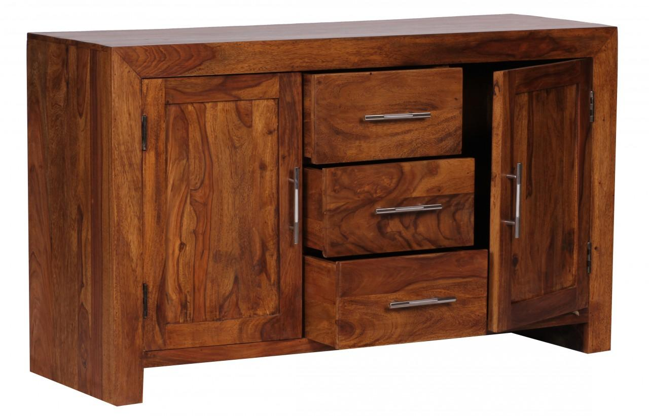 sheesham massiv sideboard 130 x 40 cm montiert massivholz. Black Bedroom Furniture Sets. Home Design Ideas