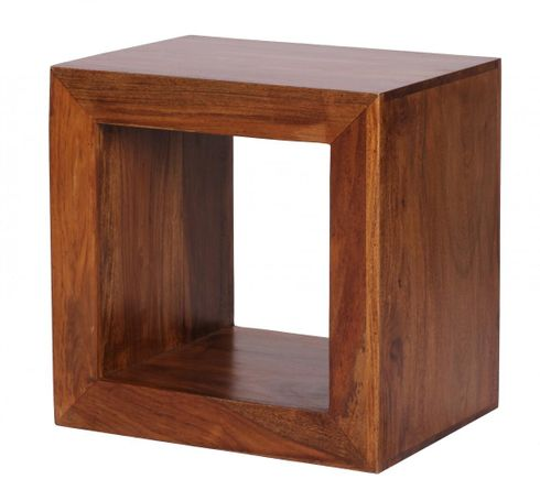 Sheesham Standregal Massiv 88 cm Cube Massivholz