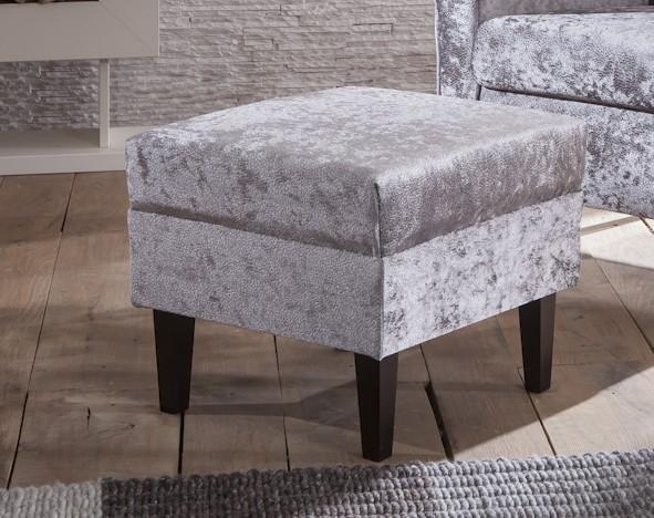 hocker f r ohrensessel aversa mit stoff pazzo silver. Black Bedroom Furniture Sets. Home Design Ideas