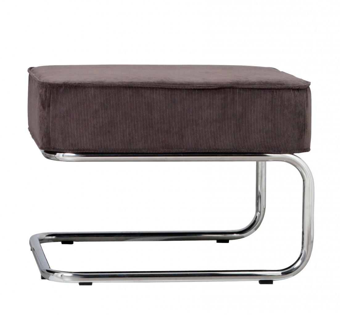 Zuiver Retro Designer Hocker RIDGE RIB GREY