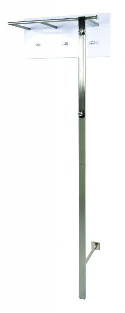 wandgarderobe paula 2 paneel wei gestell edelstahloptik. Black Bedroom Furniture Sets. Home Design Ideas