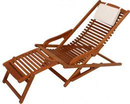 VIP Lounger Deckchair Liegestuhl aus 100% Eukalyptus