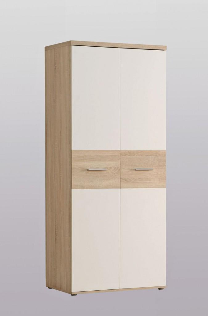 Kleiderschrank Winnie 2 Türen mit Bauchbinde in Sonoma Eiche