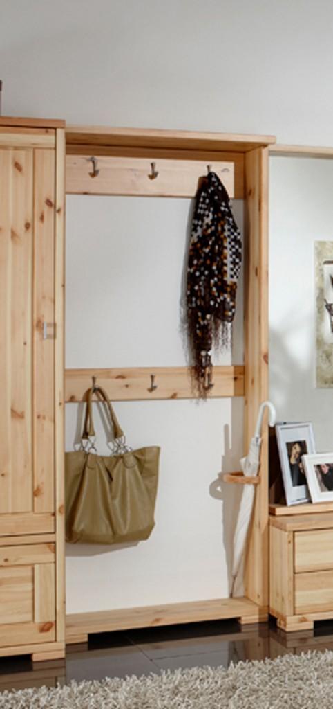 Wandpaneel guldborg garderobe 6 haken und schirmhalter for Garderobe haken