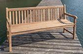 Stabile Gartenbank Picadelly 180 cm in Premium Teak mit Armlehne 001