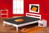 Bett FANA Futonbett 140 x 200, Kiefer massiv, Weiß lackiert 001