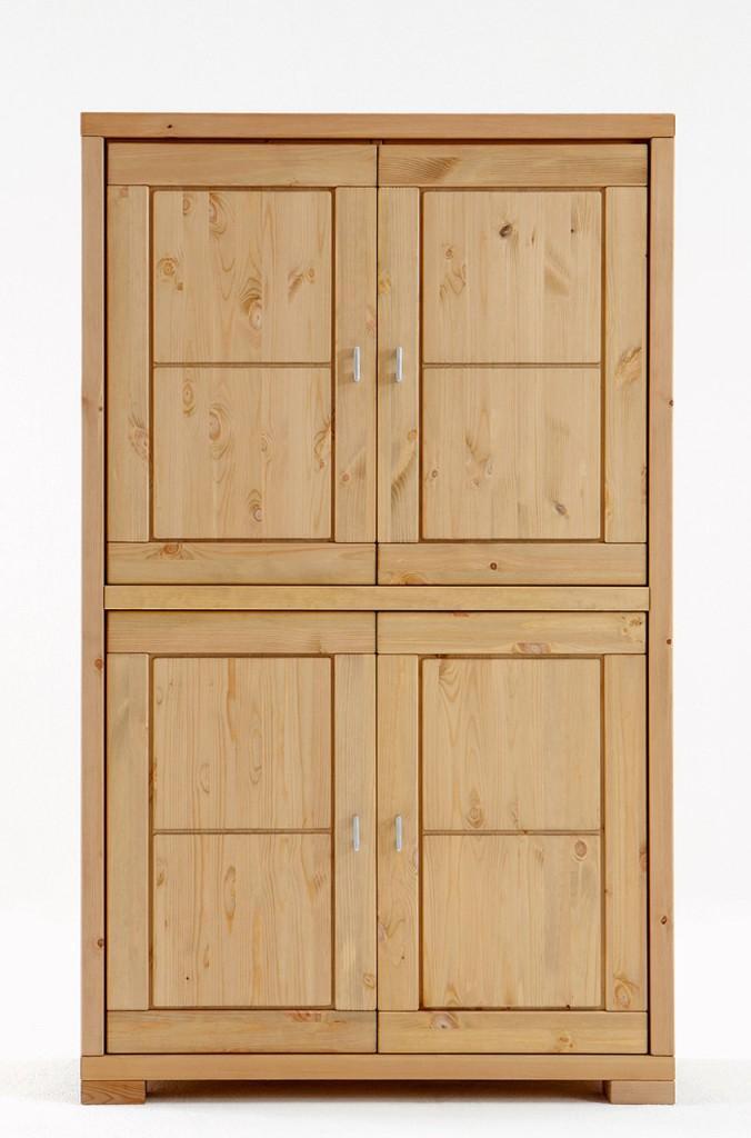 highboard vita schrank mit 4 t ren kiefer massiv. Black Bedroom Furniture Sets. Home Design Ideas
