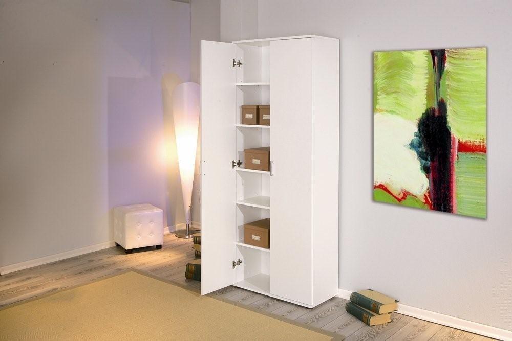 Büroschrank Universalschrank Weiß, 2 Türen, SOFORT verfügbar